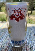Vintage 1965 - Larry Harmon - Bozo The Clown - Tumbler Jelly Jar Glass