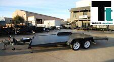 16x6'6 Beaver Tail Tandem Car Carrier Box Car Trailer, BRAND NEW