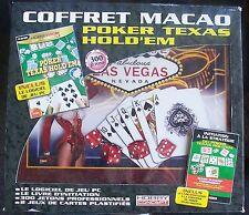 coffret macao poker texas hold'em hobby concept neuf scellé