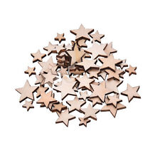 100x Wooden Mini Mixed Wood Stars Craft Cardmaking Scrapbooking Embellishment G>