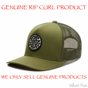 RIP CURL ORIGINAL WETTY TRUCKER MESH OLIVE STRAPBACK CAP HAT BRAND NEW
