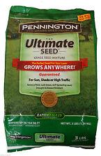 Pennington Ultimate Seed Grows Anywhere !! Sun Or Shade 3LBS 750 SQ FT