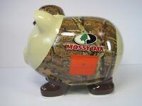 FAB NY Mossy Oak Camo Hunter Ceramic Piggy Money Bank Excellent