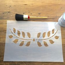 Garland 2 Stencil, Leaf Garland Stencil, Decorative Leaf Stencil multi use A4