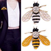 Mujeres delicadas abejas insectos cristal Diamante de imitación broche joyería