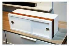 NEW Handcrafted Floating Wall Cabinet Shelf Modern Sliding Door Handmade White