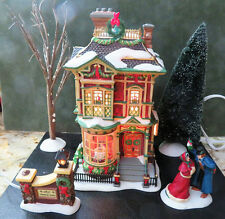 Dept 56 Lighted HOLIDAY VICTORIAN FAMILY CHRISTMAS HOUSE #58717 DICKENS VILLAGE