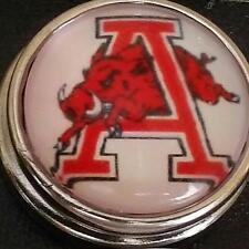 University of Arkansas, style # 2, 18 mm snap button, USA Seller