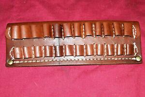 Triple K Style 581 .30-06 Rifle Cartridge Ammo Belt Pouch Case Sling Leather Gun