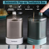 Automatic Pop-up Toothpick Box Holder Container Portable Toothpick Dispenser