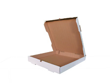 Premium Pizza Box Bundle of 50 - Plain White Corrugated Cardboard Delivery Case