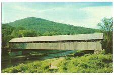 North Blenheim Cherry Valley NY New York Covered Bridge    postcard