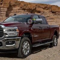 Fit 2009-2018 RAM 2500 3500 Top Half Chrome Tow Mirror Covers W/ Signal Cutout
