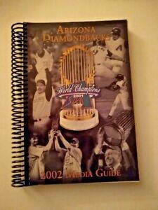 2002 Arizona Diamondbacks Press/Radio/Tv Media Guide