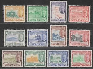 St Christopher Nevis and Anguilla 1952 KGVI Set Mint SG94-105 cat £32