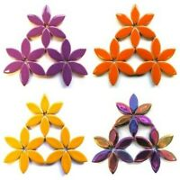 25mm Ceramic Petal Mosaic Tiles in a Choice of Colours - 50g (approx. 27 petals)