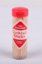 Vintage Crowndale Cocktail Sticks Wooden 5 x Packs 100