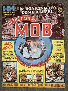 In the Days of the MOB Mag # 1 Jack Kirby John Dillinger Wanted Poster Intact
