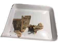 2 Vintage Cesco Porcelain Acid Resistant Darkroom Photo Developer Trays 17X14