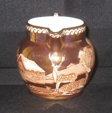 Wedgwood of Etruria Fallow Deer Creamer in Gold Lustre & Browns Excellent Cond