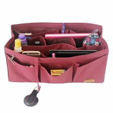 SPEEDY 40  Liner Shaper Bag Purse Insert Organizer - Waterproof - Sturdy, Maroon