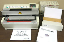 Standard Accubind Document Binding System Book Taping Machine by Planatol