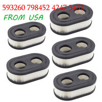 5pc AIR FILTER FOR BRIGGS S 4247 5432 5432K 09P702 593260 798452 09P702