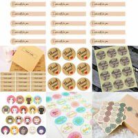"45-120pcs Kraft Paper Envelope Seals Stickers ""Thank You""Wedding Favor Label New"