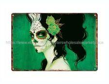 decor furniture sugar skull day of dead Dia de Los Muertos metal tin sign