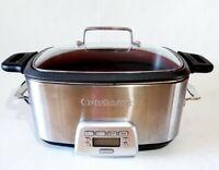 Cuisinart 7 Qt. Electric Multi Slow Cooker Stainless Steel MSC-800 Crock Pot