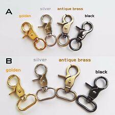 1/5x Leather Satchel Bag Shoulder Belt Strap Dog Chain Clasp Clip Buckle Trigger