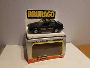 """° BURAGO #0190 - Alfa Romeo 75 """"GUARDIA DI FINANZA"""" - scala 1/24"""