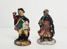 "Royal Doulton Figurines Town Crier Good King Wenceslas 4"" Hn3262 Hn3261"