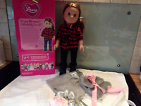 """SINDY BOXED 18"""" DOLL  LAURA with EXTRA OUTFIT- EXCELLENT CONDITION"""
