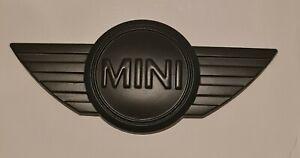 MINI Car Rare Boot Metal 3D Black Matte BADGE - ONE - WORKS  COOPER Top Quality