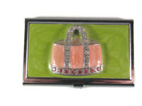 Enamel Handbag (Crystals) Makeup Mirror - Collectible