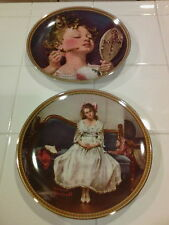 2 Norman Rockwell Knowles Limited Edition Numbered Plates