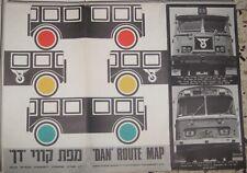 Judaica Israel Big Old Dan Bus Routes Map Gush Dan