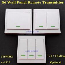 86 Wall Panel Remote Control Transmitter Sticky RF TX Smart Home Room WirelessTX