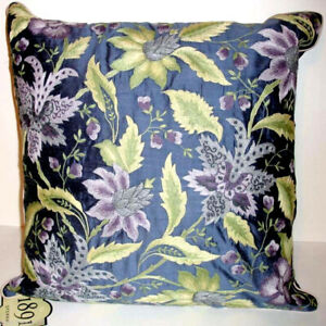 """Sferra 1891 Madame Royale Silk Pillow Embroidered Floral Wisteria 20x20"""" New"""