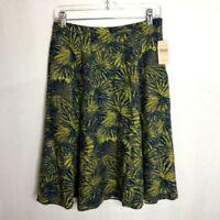 NEW Coldwater Creek Women's Size 6 A-Line Linen Blend Green Skirt NWT - TP225