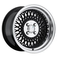 """16X9 +18 Klutch SL1 4x114.3 Black Wheels RIMS 5X4.5 3"""" LIP TRACK CAR STANCE"""
