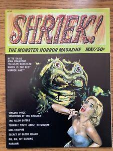 VINTAGE Shriek the Monster Horror Magazine #1 VF 1965