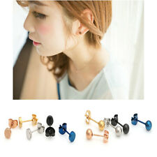 Hot Medical Titanium Steel Earrings Rose Gold Round Earrings Fashion Jewelry