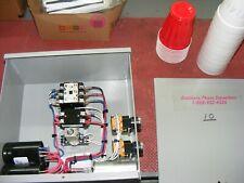 7.5 Hp phase converter control panel CONVERTER ROTARY 3HP @ 120v