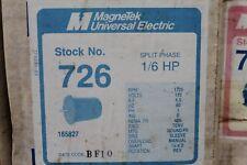 MagneTek Universal Electric Stock# 726 Motor 1/6Hp - 115V - 1725Rpm Nema Fr 48N
