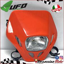 PORTAFARO FARO UFO PLAST OMOLOGATO TABELLA ANTERIORE ARANCIO KTM EXC 125 250 300