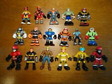 """2"""" MINI RESCUE HEROES & TRANSFORMERS ACTION FIGURES LOT~17 PEOPLE"""