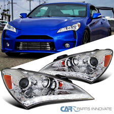 For Hyundai 10-12 Genesis Coupe Clear LED DRL Projector Headlights Left+Right