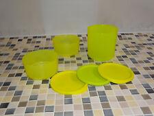 """Tupperware """"Frische Runde & Sonnenschein"""" (3) grün-gelb Vorratsbehälter RAR NEU"""